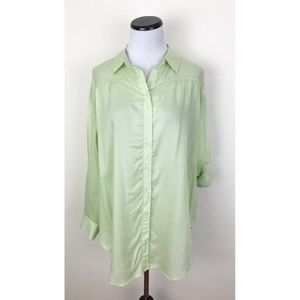 NWT Maurices Oversize Striped Button Front Shirt